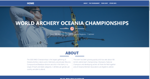 The main screen of the WAO Championship website