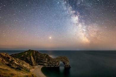 Milky Way over Durdle Door