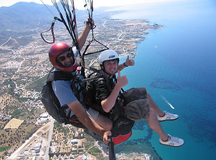 Paragliding in Kyrenia North Cyprus