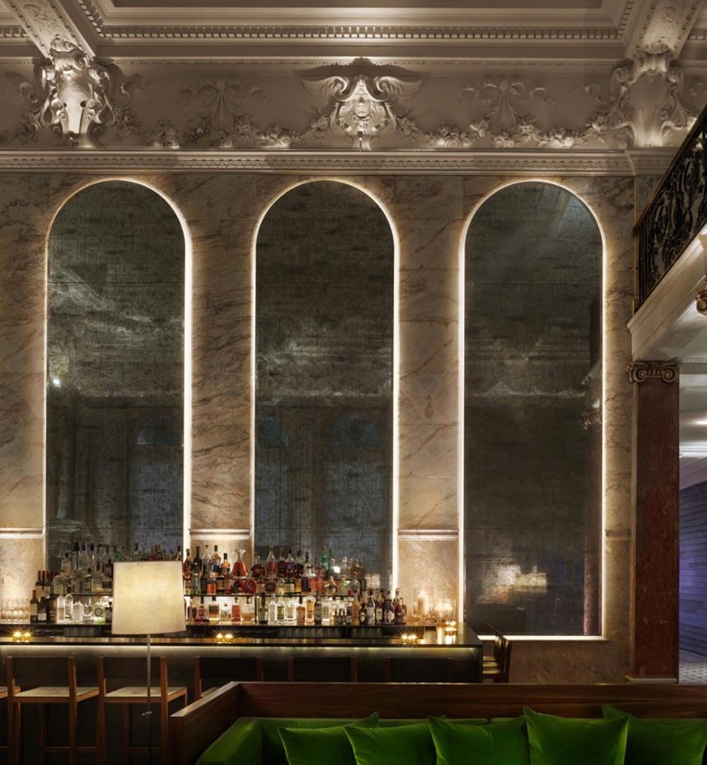 Berner Street Hotel  Lobby Bar Cornice London