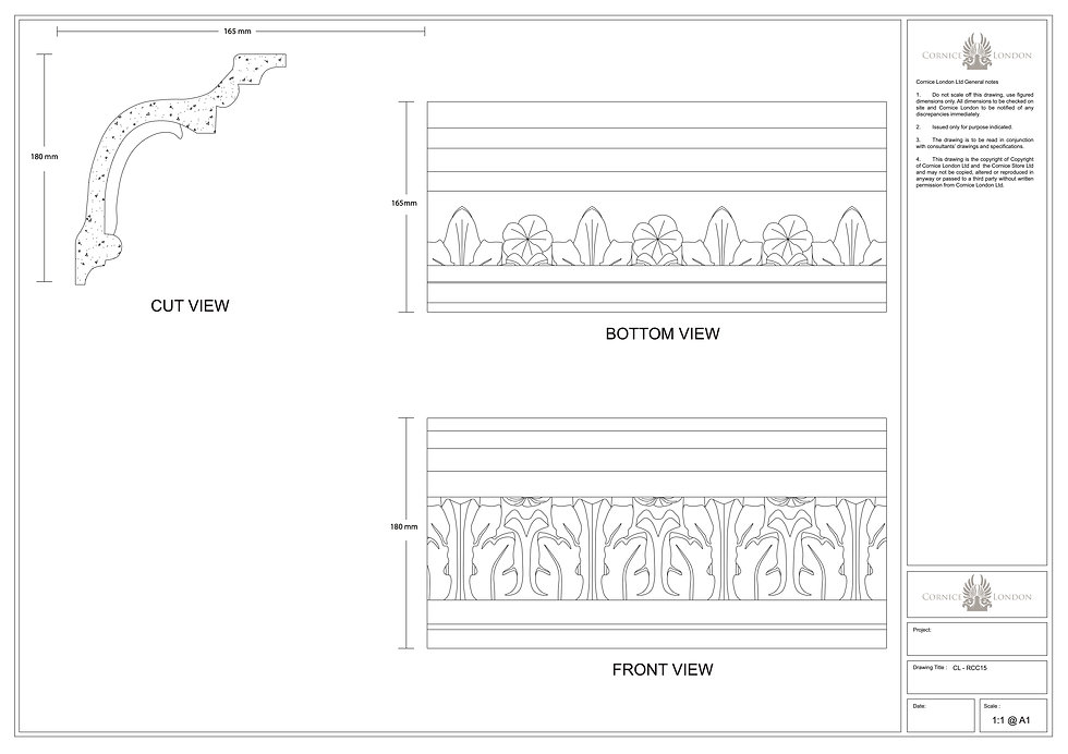 Cornice London product CAD Files and DWG service