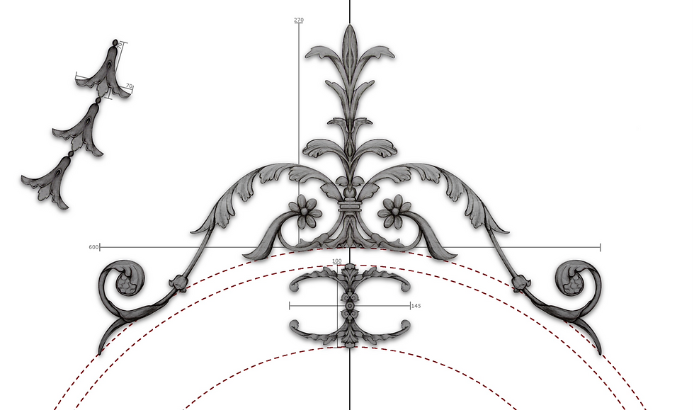 Cornice London Bespoke plaster ceiling drawing service
