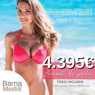 Aumento de pecho 4.395€ con TODO INCLUIDO - precio final