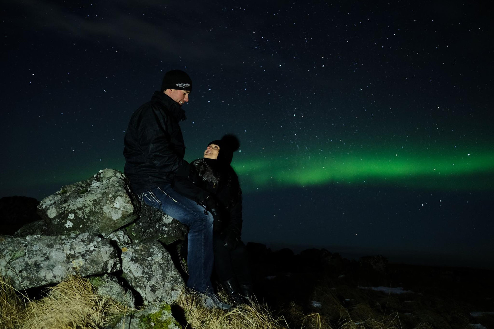 romantic northern lights