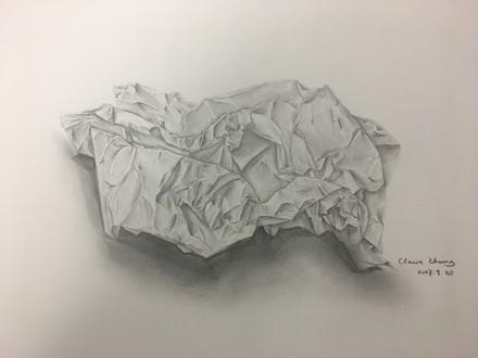 Scrunced Paper