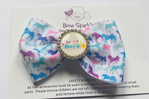 Love Rara small unicorn bow