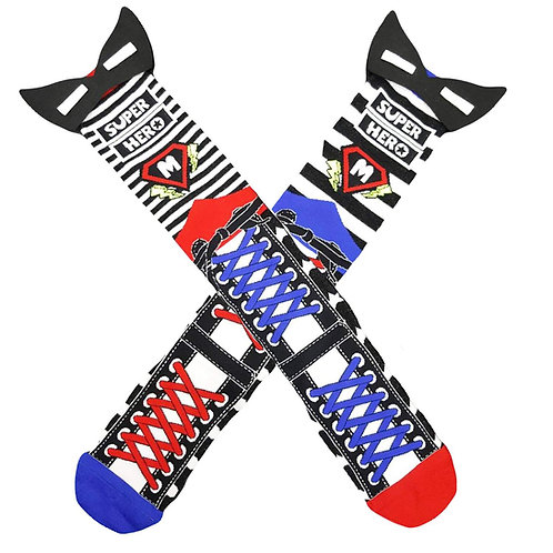 Superhero Madmia Socks Toddler and Standard
