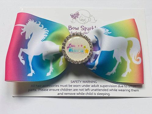 Love Rara Large Rainbow unicorn bow