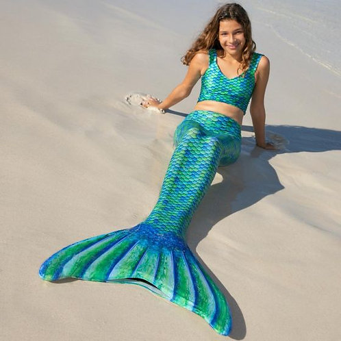 Celtic Green Mermaid Tail Children Skin and Fin