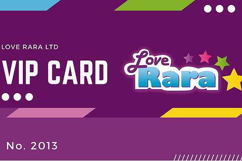 Love Rara VIP Workshop Card