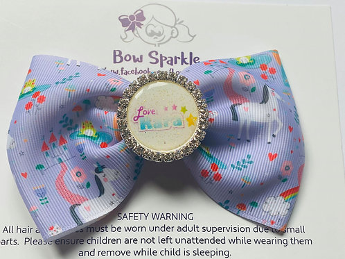 Love Rara lilac unicorn bow