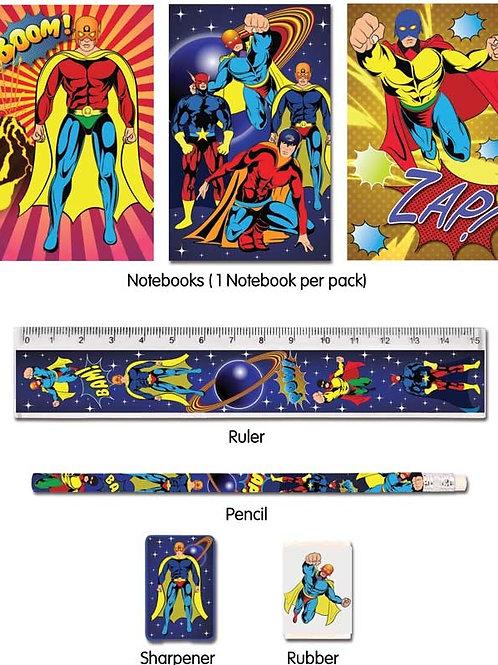 Superhero 5pc Stationary Set