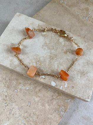 Orange Calcite Aeriella Bracelet
