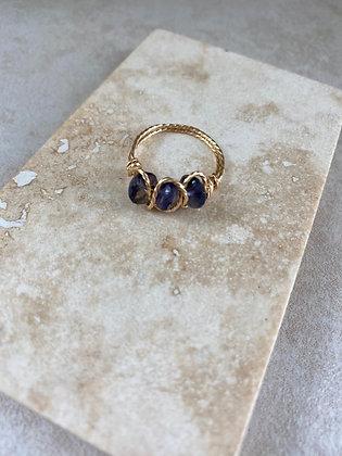 Iolite Triple Infinity Ring
