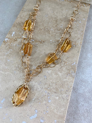 Citrine Power Necklace