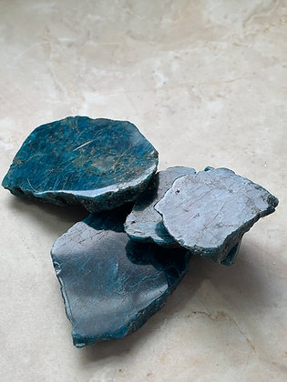 Blue Apatite - Slices