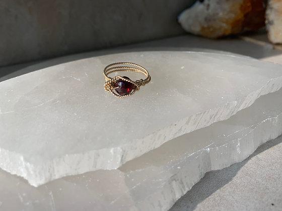 Red Garnet Spa Ring