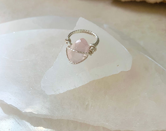 Rose Quartz Boutique Ring