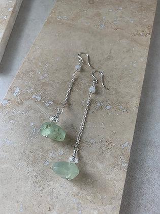 Prehnite Drop Earrings