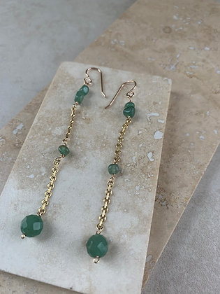 Aventurine Single Drop Earrings