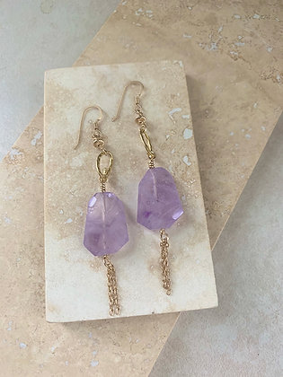 Amethyst Fairy Fringe Earrings