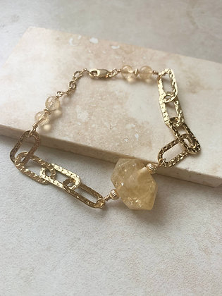 Citrine Faceted Double Terminated Bracelet