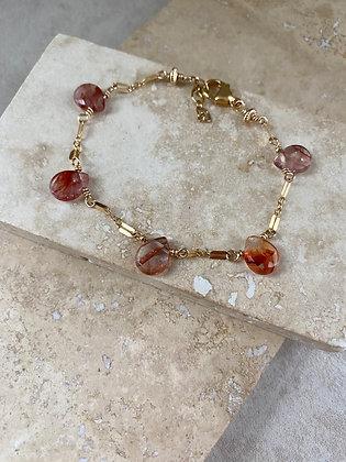 Hematoid Quartz Aeriella Bracelet