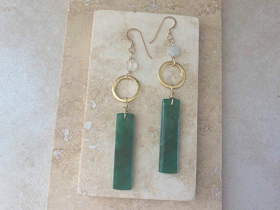 African Green Opal Earrings
