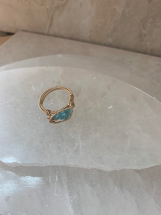 Blue Apatite Spa Ring