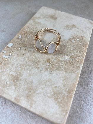 Crystal Quartz Infinity Ring