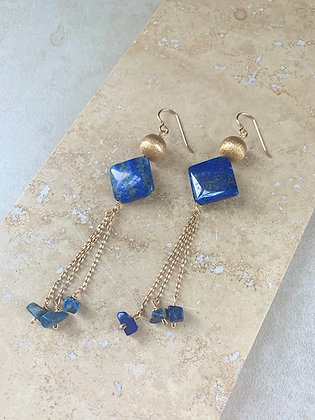 Lapis Wind Chime Earrings