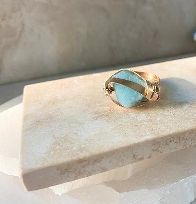 Amazonite Royale Ring