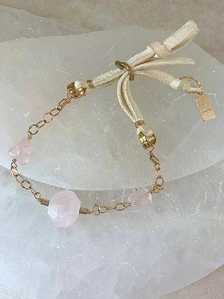 Earth & Sky Bracelet in Rose Quartz
