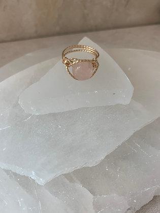 Rose Quartz Spa Ring