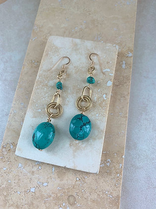Sacred Circle Turquoise Earrings