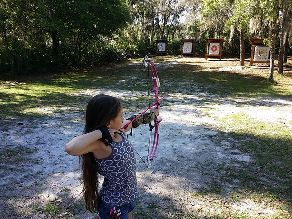 Youth archery at Lake Park in Tampa