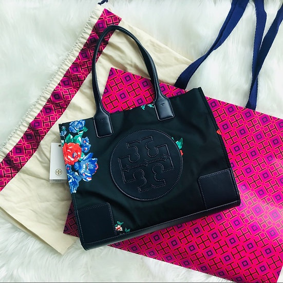 Tory Burch Ella Mini Roses Tote Bag