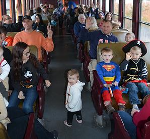 Halloween Express Train Rides at Arcade & Attica Railroad-716-948-0505