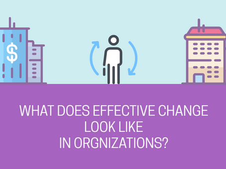 What Constitutes Effective Change in Organizations?