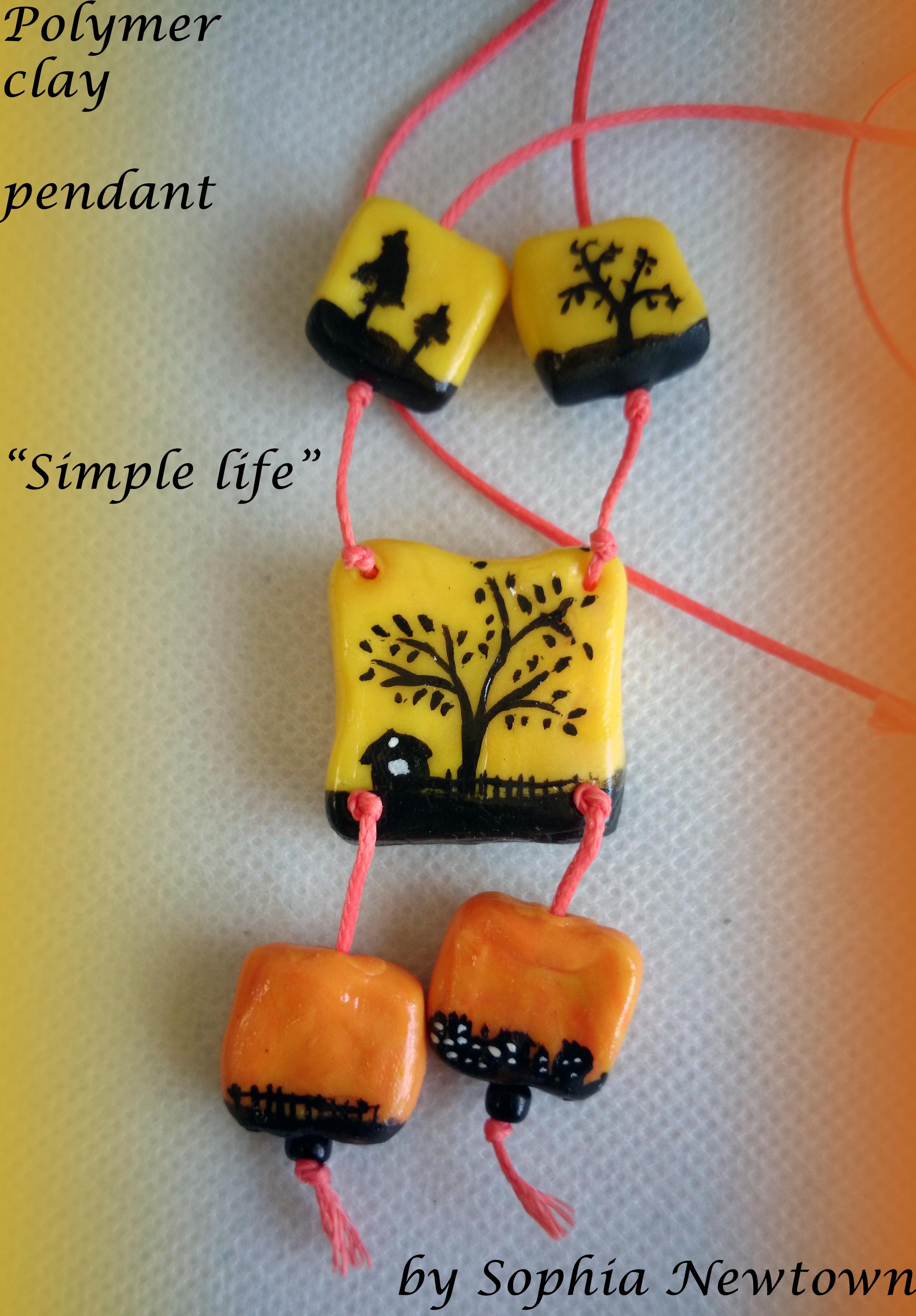 Simple life pendant
