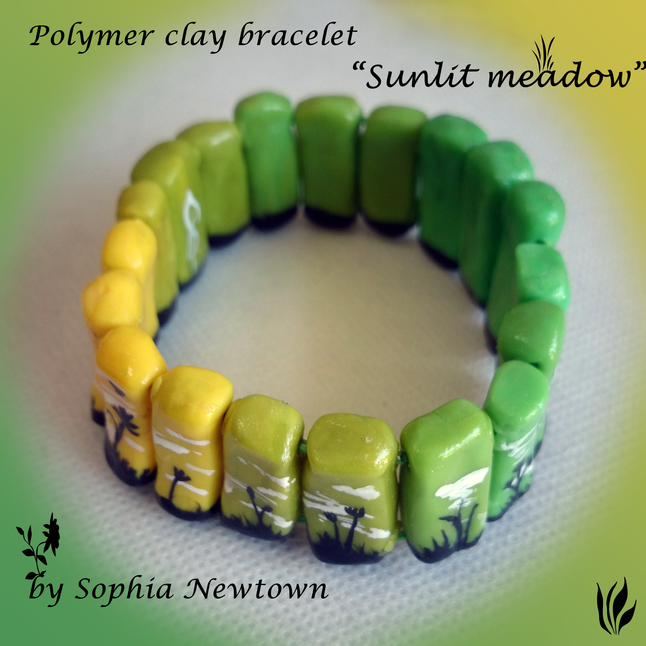 Sunlit meadow bracelet