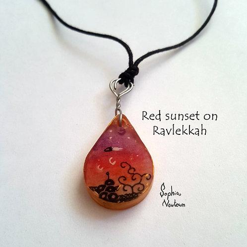 Red sunset on ravlekkah