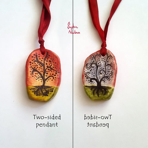Double-sided Tree of Life pendant