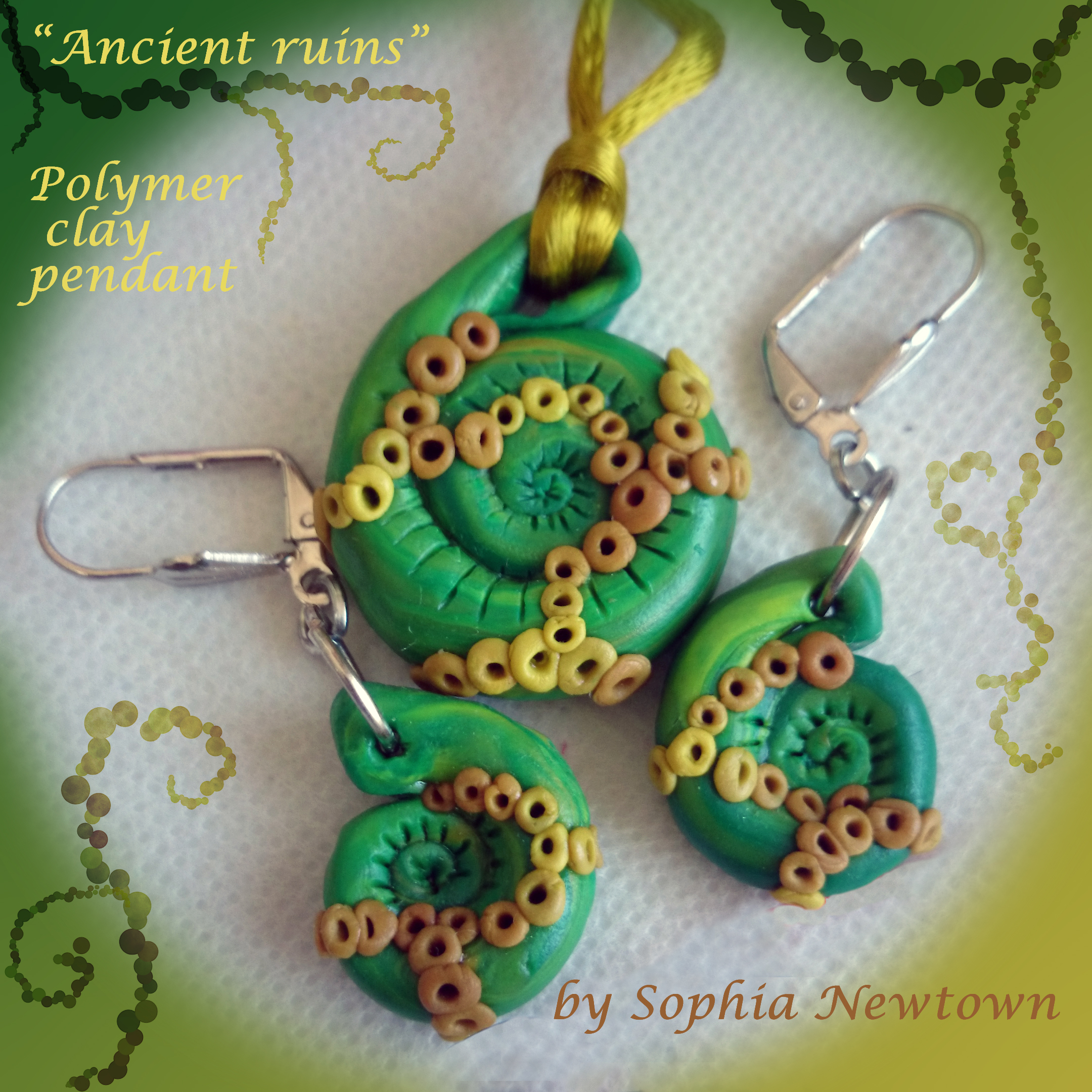 Ancient ruins jewelry set
