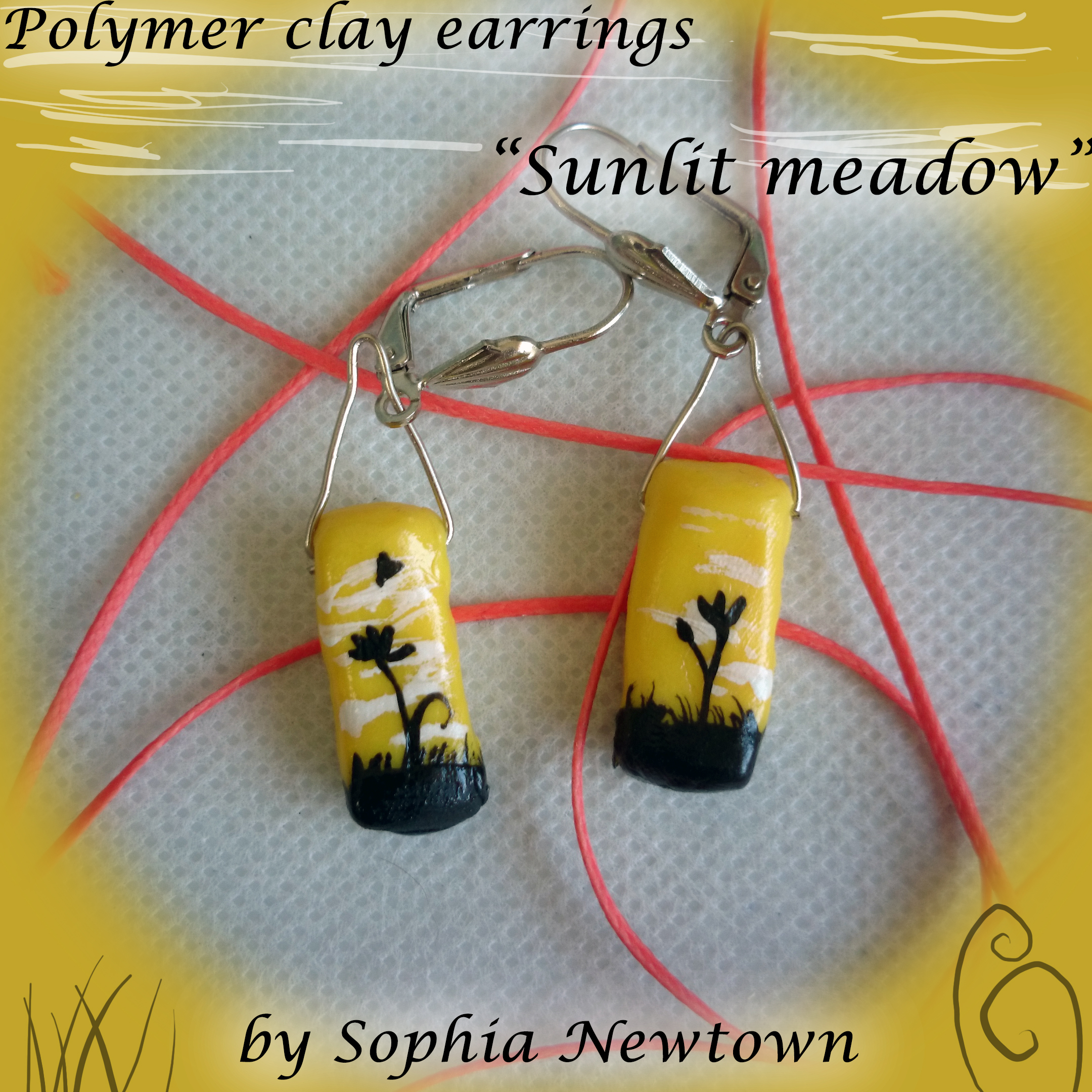 Sunlit meadow earrings