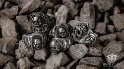 Iron Clan Skull Ring Collection