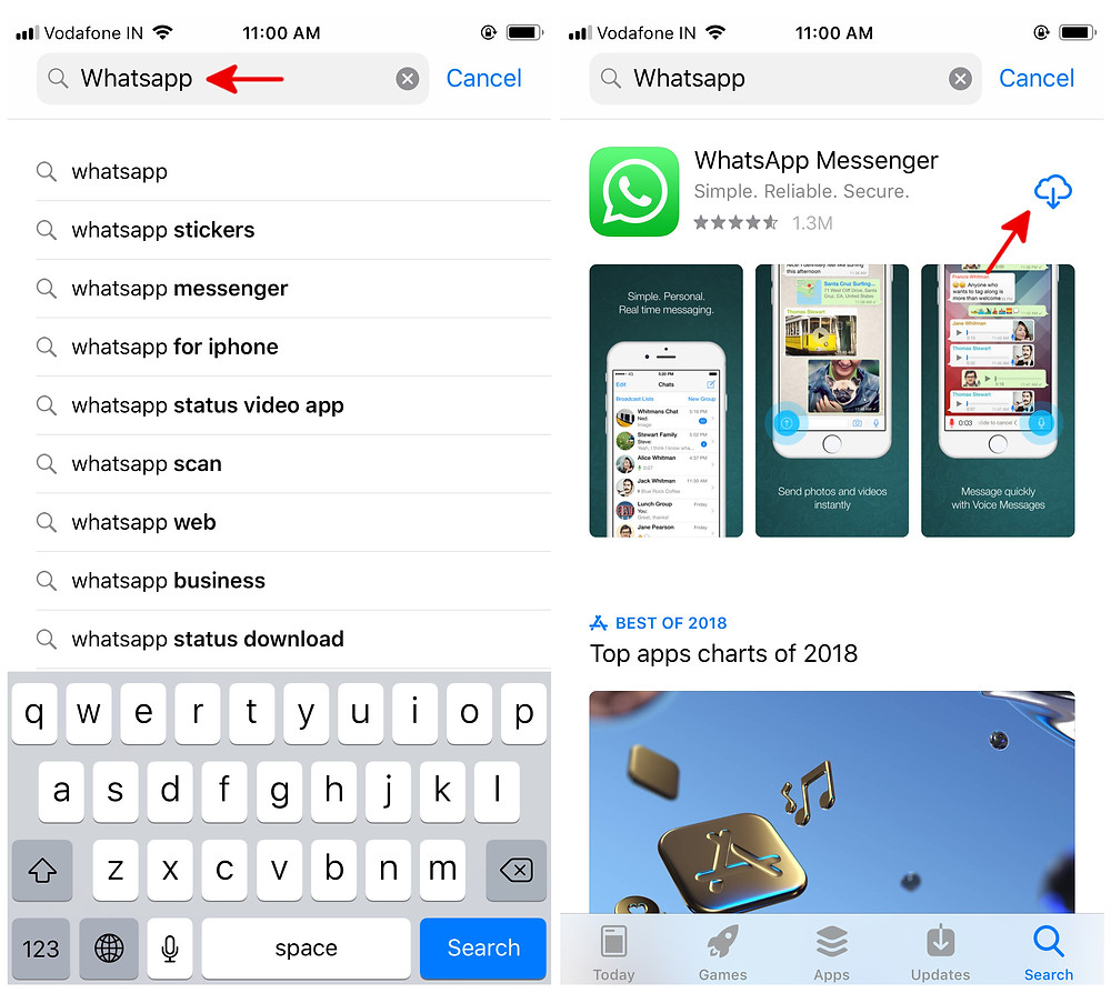 download whatsapp on iphone