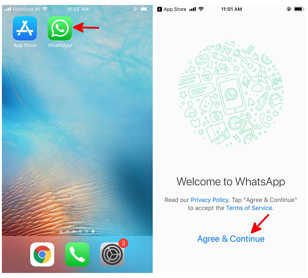install whatsapp on iphone