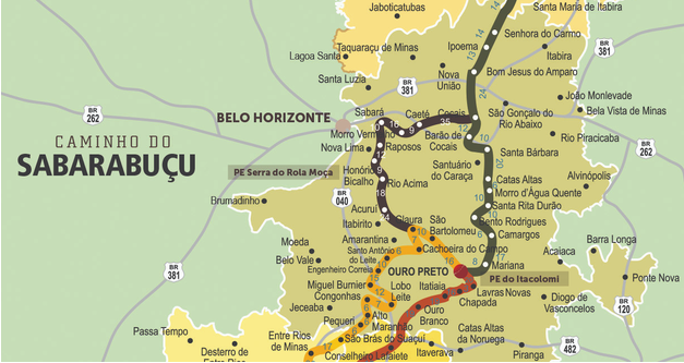Mapa Caminho do Sabarabuçu