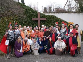 Sacra Rappresentazione vivente della Passione di Cristo a Pforzheim interpretata dal gruppo teatrale